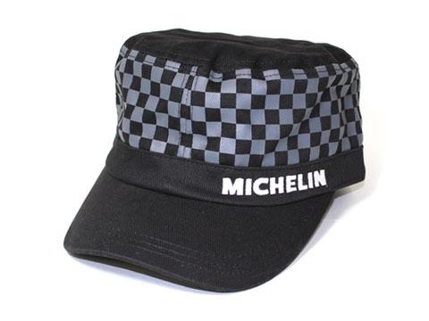 Michelin(ミシュラン)ワークキャップ,ブラック/チェッカー