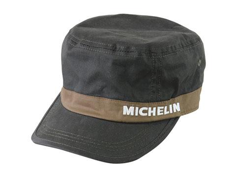 Michelin(ミシュラン)ワークキャップ,カーキ/ブラウン,ツイル素材