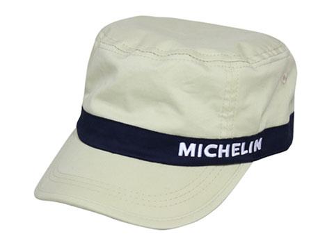 Michelin(ミシュラン)ワークキャップ,ライトベージュ/ネイビー,ツイル素材