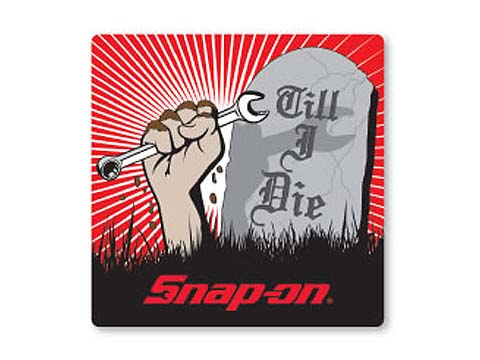 Snap-on(スナップオン)ステッカー「TILL I DIE DECAL」