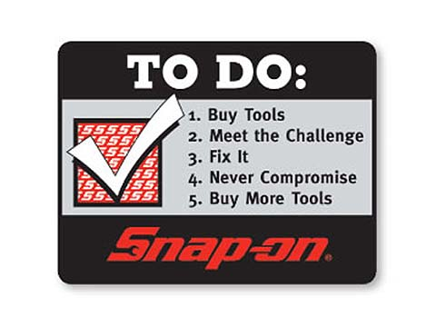 "Snap-on(スナップオン)ステッカー「TECH ""TO DO"" LIST DECAL」"