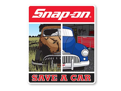 Snap-on(スナップオン)ステッカー「SAVE A CAR DECAL」