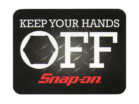 Snap-on(スナップオン)ステッカー「KEEP YOUR HANDS OFF DECAL」