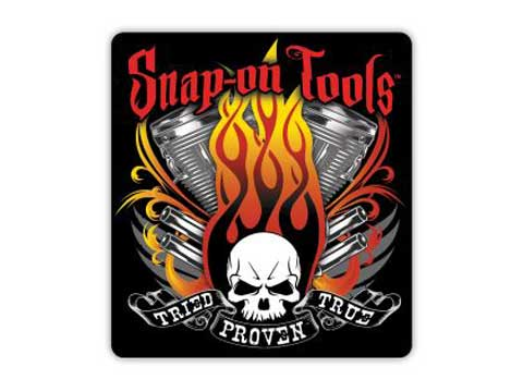 Snap-on(スナップオン)ステッカー「FLAME ENGINE DECAL」