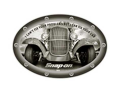 Snap-on(スナップオン)ステッカー「FIX CAR OVAL DECAL」