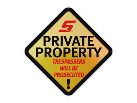 Snap-on(スナップオン)ステッカー「PRIVATE PROPERTY DECAL」
