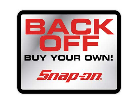 Snap-on(スナップオン)ステッカー「BACK OFF DECAL」