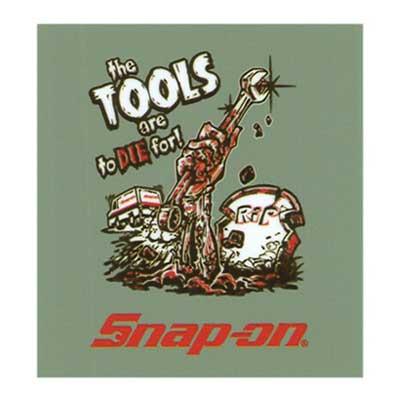 Snap-on(スナップオン)オフィシャルステッカー05「ZOMBIE - GRAY」