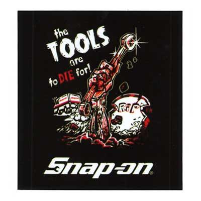 Snap-on(スナップオン)オフィシャルステッカー06「ZOMBIE - BLACK」