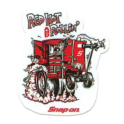 Snap-on(スナップオン)オフィシャルステッカー11「RED HOT - WHITE」