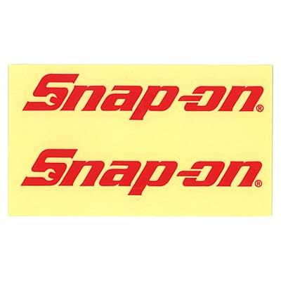 Snap-on(スナップオン)ロゴ転写ステッカー MEDIUM 02「LOGO - RED」