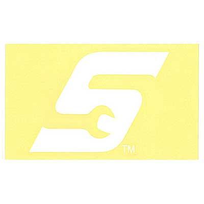Snap-on(スナップオン)ロゴ転写ステッカー MEDIUM 10「WRENCH S LOGO - WHITE」