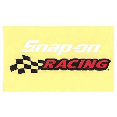 Snap-on(スナップオン)ロゴ転写ステッカー MEDIUM 13「RACING LOGO - WHITE」