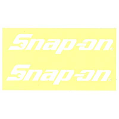 Snap-on(スナップオン)ロゴ転写ステッカー LARGE 03「LOGO - WHITE」