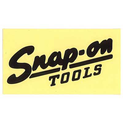 Snap-on(スナップオン)ロゴ転写ステッカー LARGE 04「VINTAGE LOGO - BLACK」