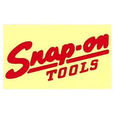 Snap-on(スナップオン)ロゴ転写ステッカー LARGE 05「VINTAGE LOGO - RED」