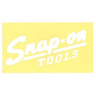 Snap-on(スナップオン)ロゴ転写ステッカー LARGE 06「VINTAGE LOGO - WHITE」