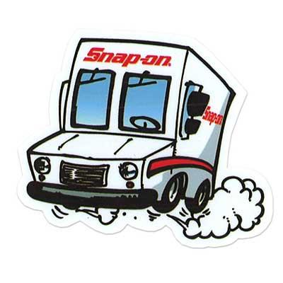 Snap-on(スナップオン)布用転写ステッカー02「VAN FRONT」
