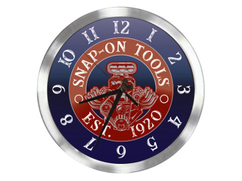 Snap-on(スナップオン)時計「RETRO ENGINE CLOCK」