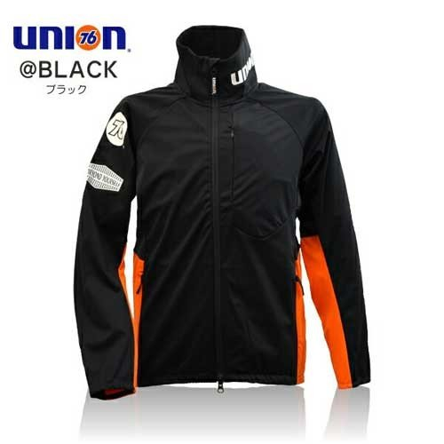 76Lubricants(ユノカル,ユニオン,ナナロク)防風ストレッチジャケット,ブラック