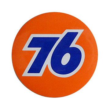 76Lubricants(ユノカル,ユニオン,ナナロク)オフィシャルラウンドロゴステッカー,ミディアム(約8.4cm)