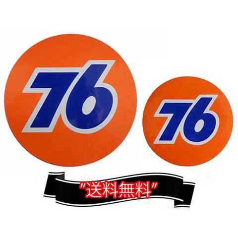 76Lubricants(ユノカル,ユニオン,ナナロク)オフィシャルラウンドロゴステッカーセット(4)