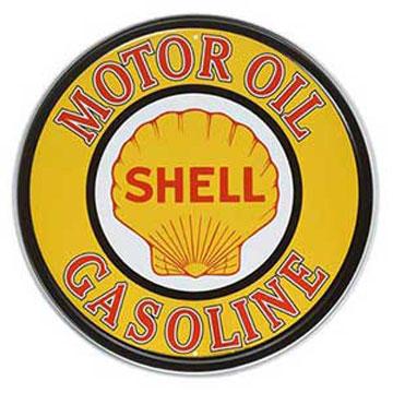 ティンサイン「SHELL MOTOR OIL & GASOLINE ROUND」