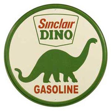 ティンサイン「SINCLAIR DINO GASOLINE ROUND」