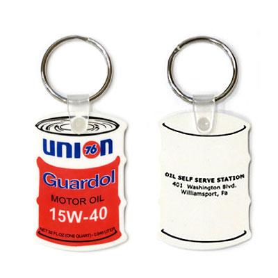 76Lubricants(ユノカル,ユニオン,ナナロク)ラバーキーホルダー オイル缶型
