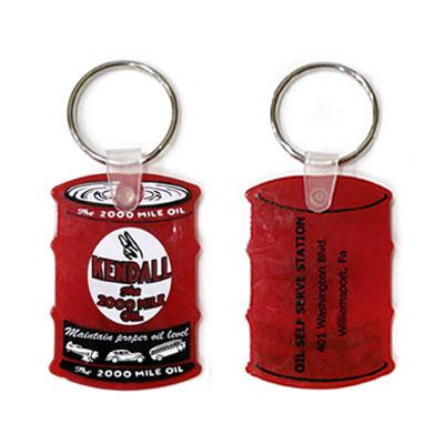 Kendall(ケンドル)ラバーキーホルダー オイル缶型