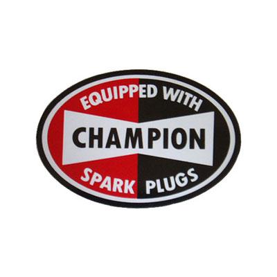 CHAMPION(チャンピオンスパークプラグ)ステッカー(1)