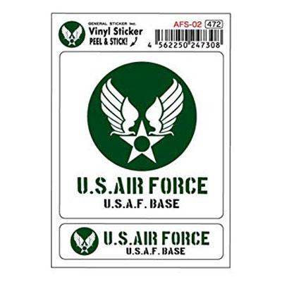 U.S.AIR.FORCE(U.S.エアーフォース)ステッカーセット GREEN
