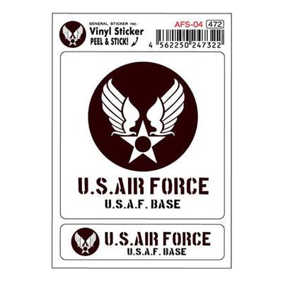 U.S.AIR.FORCE(U.S.エアーフォース)ステッカーセット PURPLE