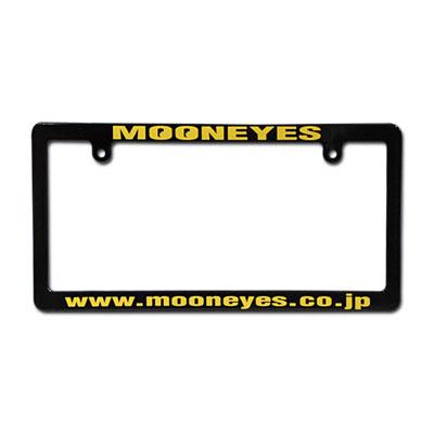 Mooneyes(ムーンアイズ)ブラックライセンスフレーム 4輪車用 アドレス イエロー