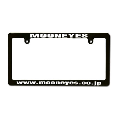 Mooneyes(ムーンアイズ)ブラックライセンスフレーム 4輪車用 アドレス ホワイト