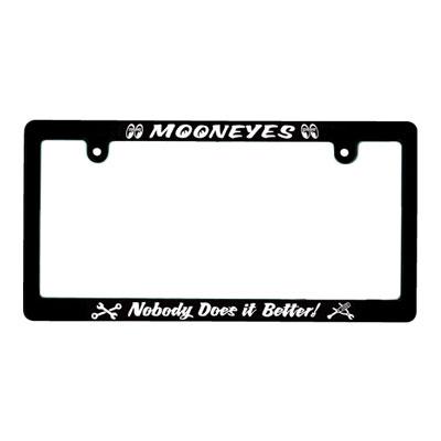 Mooneyes(ムーンアイズ)ブラックライセンスフレーム 4輪車用 Nobody Does it Better