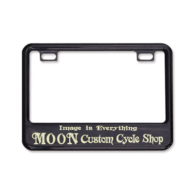Mooneyes(ムーンアイズ)ブラックライセンスフレーム 小型バイク用(50cc〜125cc)MOON Custom Cycle Shop