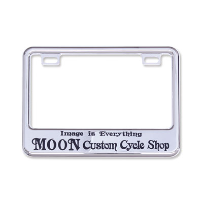 Mooneyes(ムーンアイズ)クロームライセンスフレーム 小型バイク用(50cc〜125cc)MOON Custom Cycle Shop