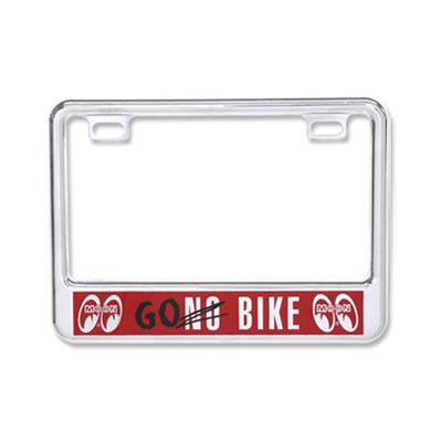 Mooneyes(ムーンアイズ)クロームライセンスフレーム 小型バイク用(50cc〜125cc)Go Bike