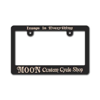 Mooneyes(ムーンアイズ)ブラックライセンスフレーム バイク用(126cc〜)MOON Custom Cycle Shop