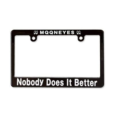 Mooneyes(ムーンアイズ)ブラックライセンスフレーム バイク用(126cc〜)Nobody Does It Better