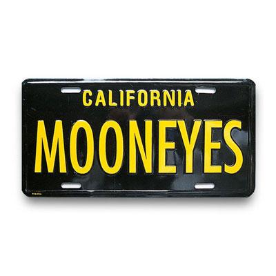 Mooneyes(ムーンアイズ)ライセンスプレート カリフォルニア ブラック