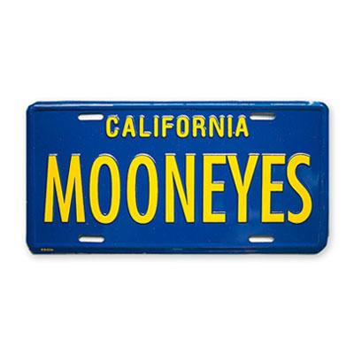 Mooneyes(ムーンアイズ)ライセンスプレート カリフォルニア ブルー