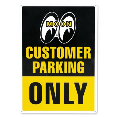 Mooneyes(ムーンアイズ)サインプレート「MOON Customer Parking Only」