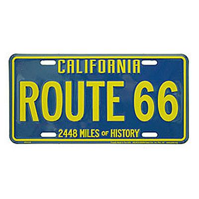 Route.66(ルート66)ライセンスプレート【2】