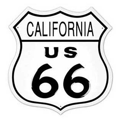 Route.66(ルート66)ティンサイン「RT.66 SHIELD - CALIFORNIA」