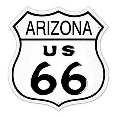 Route.66(ルート66)ティンサイン「RT.66 SHIELD - ARIZONA」