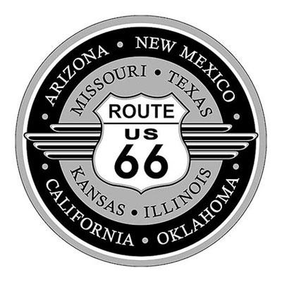 Route.66(ルート66)アルミサイン「RT.66 ROUND」