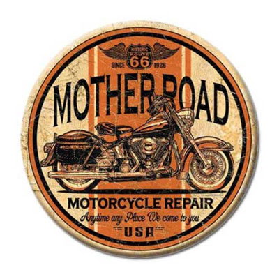Route.66(ルート66)ティンサイン「RT.66 ROUND - MOTHER ROAD」