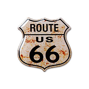 Route.66(ルート66)ピンバッジ「RT.66 SHIELD - RUSTY」